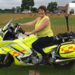 Jane on a blood bike